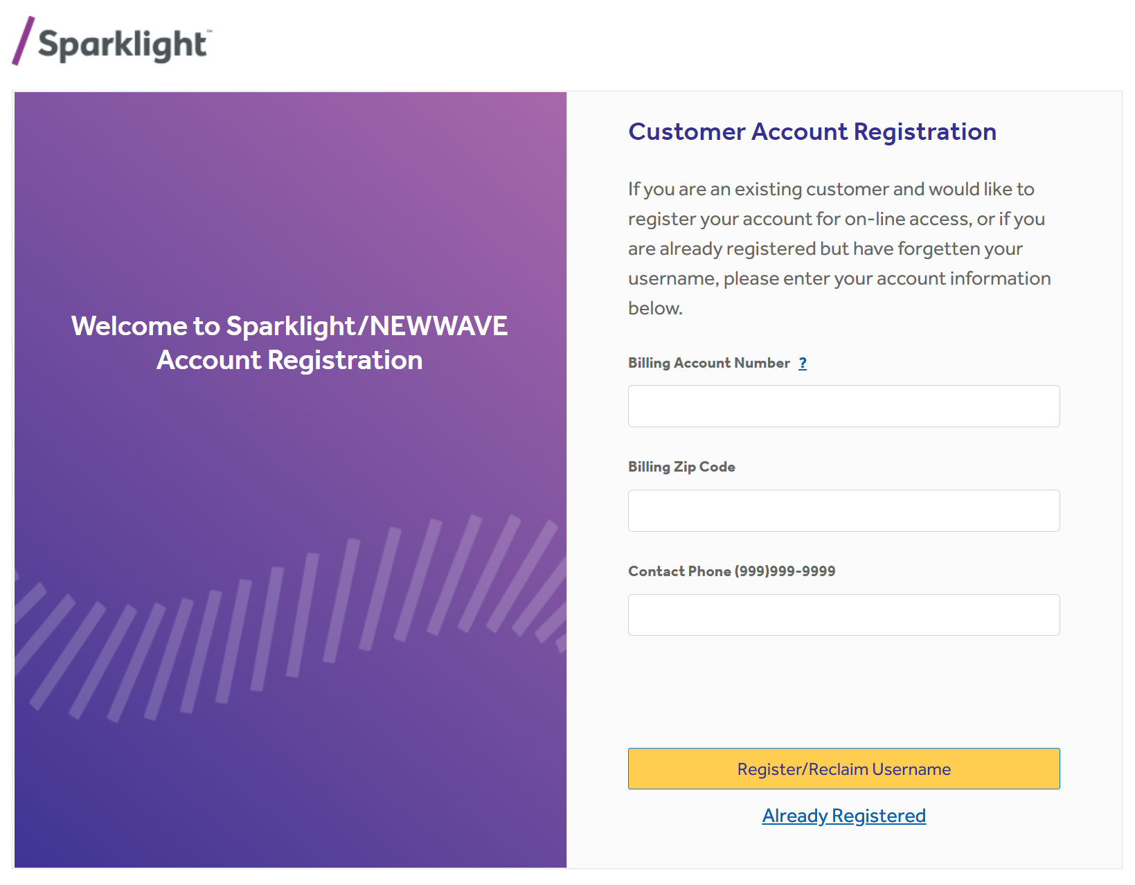 Sparklight Customer Login at sparklight.com